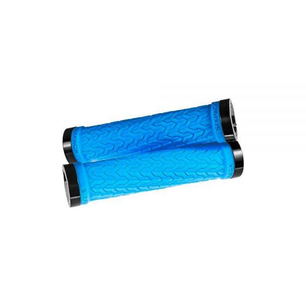 Sixpack Racing S-Trix Lock-On Grips - Blue-Black, Blue-Black