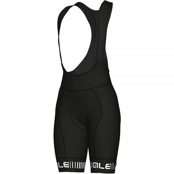 Alé Women's PRR Strada Bib Shorts - M - Black-White, Black-White