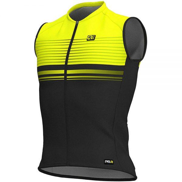 Alé Graphics PRR SM Slide Sleeveless Jersey - S - Black-Fluro Yellow, Black-Fluro Yellow