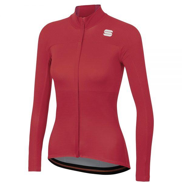 Sportful Women's Bodyfit Pro Thermal Jersey - S - Red Rumba-Bubble Gum, Red Rumba-Bubble Gum