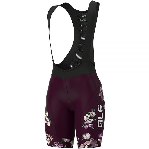 Alé Women's Graphics PRR Fiori Bib Shorts - XXL - Plum, Plum