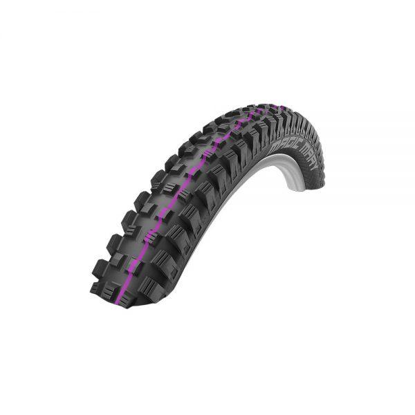 Schwalbe Magic Mary Addix MTB Tyre - DH - Wire Bead - Black - Purple, Black - Purple