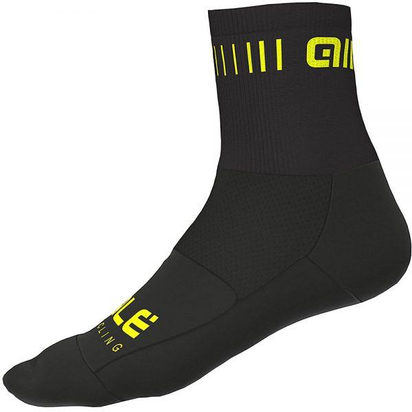 Alé Strada Qskin Socks - L - Black-Fluro Yellow, Black-Fluro Yellow