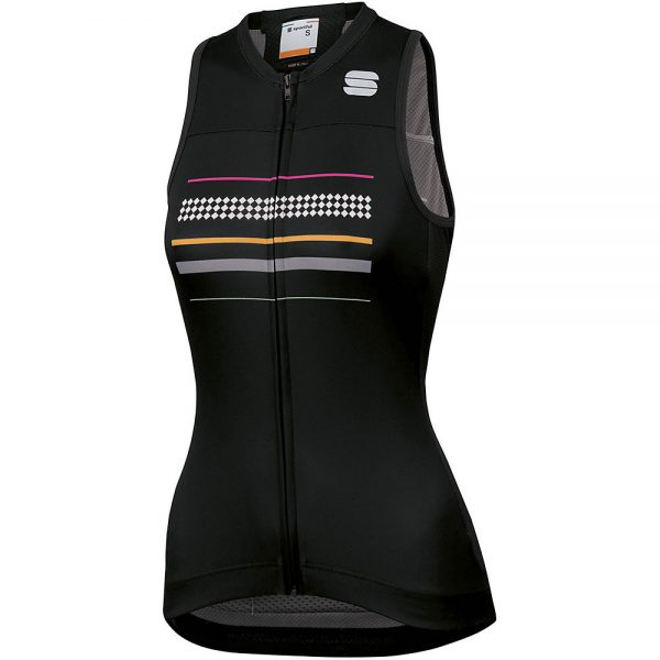Sportful Women's Diva Sleeveless Jersey - XXL - Black, Black