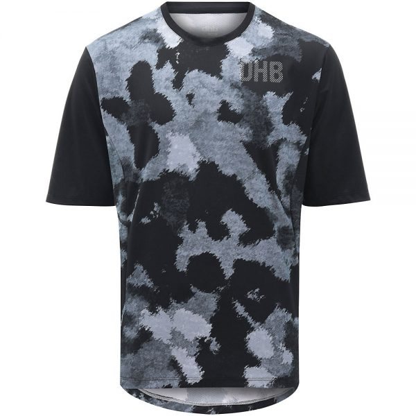 dhb MTB Trail Short Sleeve Jersey - Camo - XL - Black-Grey Camo, Black-Grey Camo