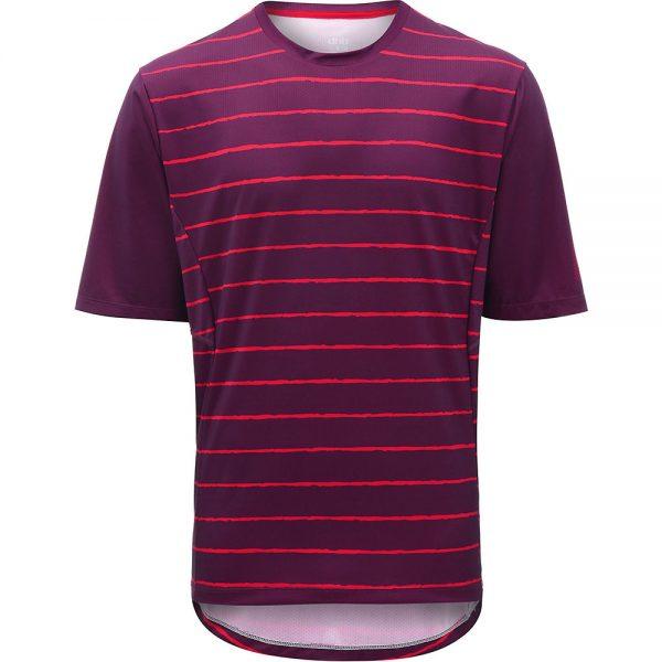 dhb MTB Trail Short Sleeve Jersey - Stripe - S - Red Stripe, Red Stripe