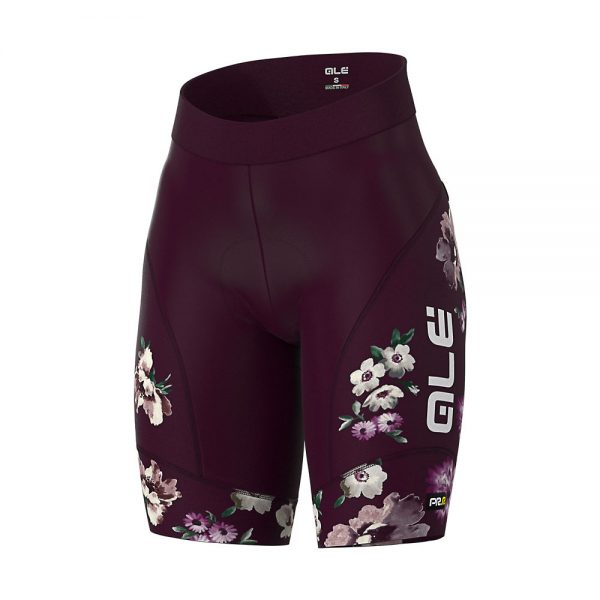 Alé Women's Graphics PRR Fiori Shorts - M - Plum, Plum