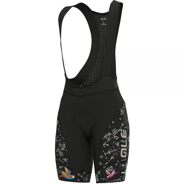 Alé Women's Graphics PRR Versilia Bib Shorts - L - Black, Black