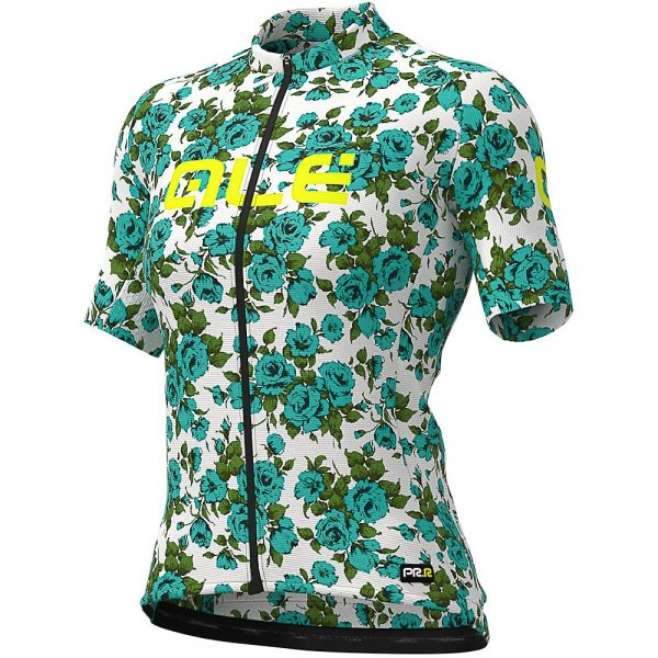 Alé Women's Graphics PRR Roses Jersey - XL - Turquoise, Turquoise