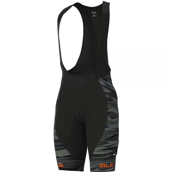Alé Graphics PRR Rock Bib Shorts - M - Black-Fluro Orange, Black-Fluro Orange