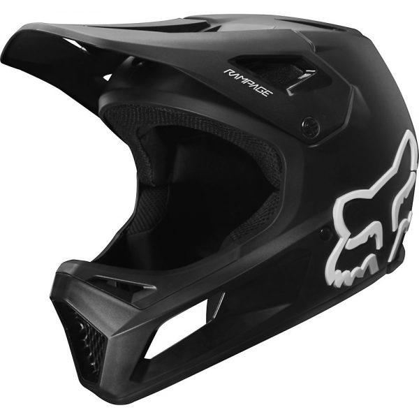 Fox Racing Rampage Full Face MTB Helmet - M - Black, Black