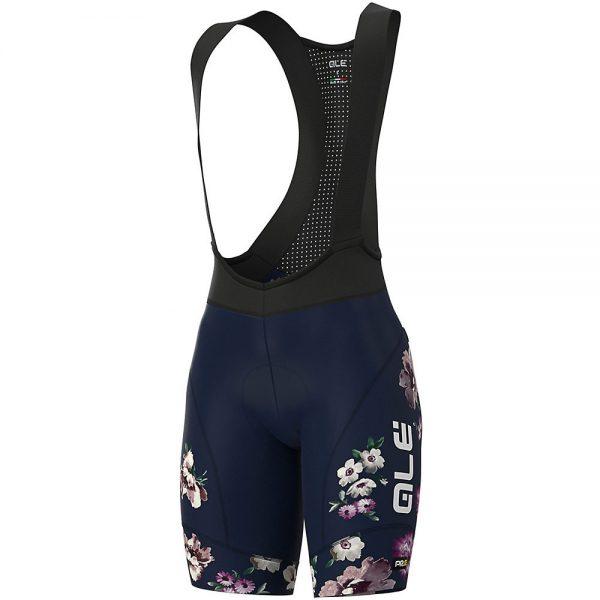 Alé Women's Graphics PRR Fiori Bib Shorts - L - Navy Blue, Navy Blue