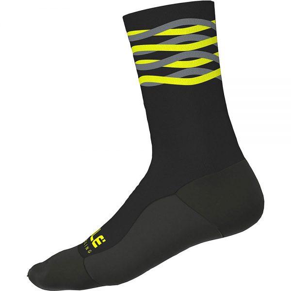 Alé Speed Fondo Socks H18 - S - Black Yellow Fluo, Black Yellow Fluo