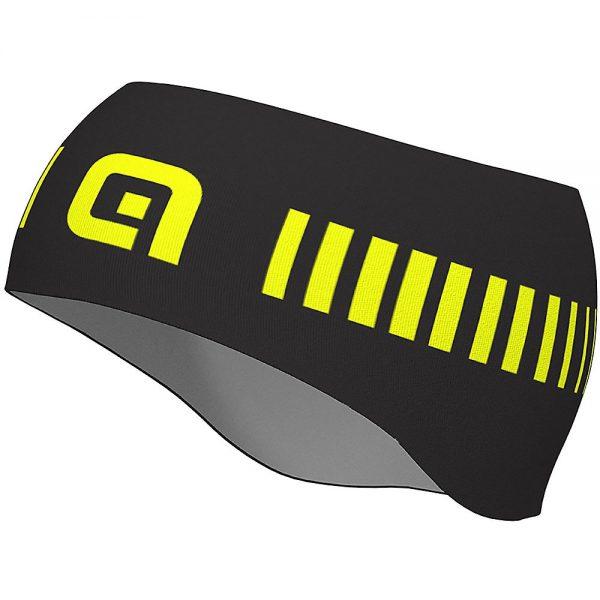 Alé Strada Headband - One Size - Black-Fluro Yellow, Black-Fluro Yellow