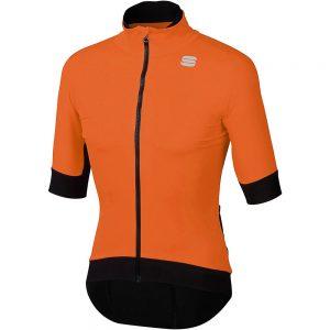Sportful Fiandre Pro Short Sleeve Jacket - XL - Orange SDR, Orange SDR
