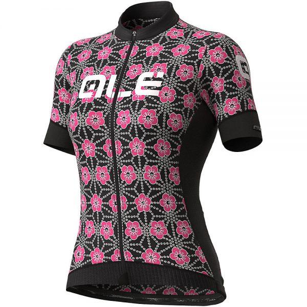 Alé Women's PRS Garda Jersey - XXL - Black-Fluro Pink, Black-Fluro Pink
