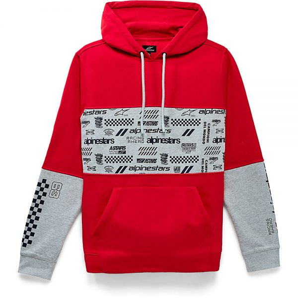 Alpinestars Chaos Hoodie - S - Red, Red