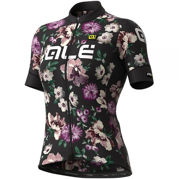 Alé Women's Graphics PRR Fiori Jersey - S - Black, Black