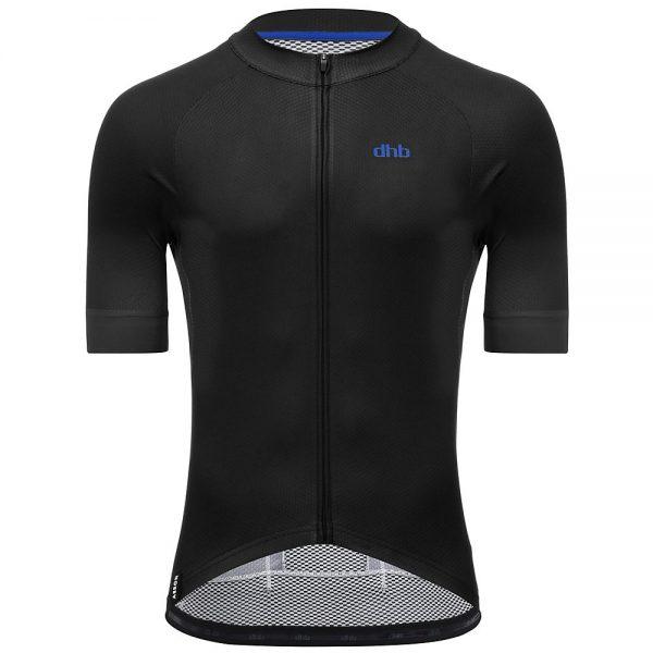 dhb Aeron Short Sleeve Jersey - XXXL - Black, Black