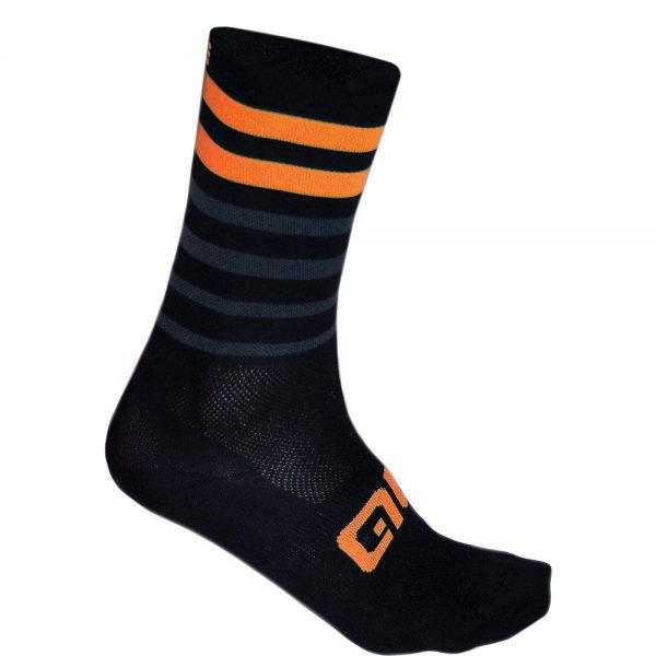 Alé Speed Fondo Socks - S - Black-Orange, Black-Orange
