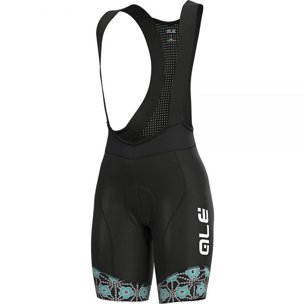 Alé Women's PRS Garda Bib Shorts - XXXL - Black-Turquoise, Black-Turquoise