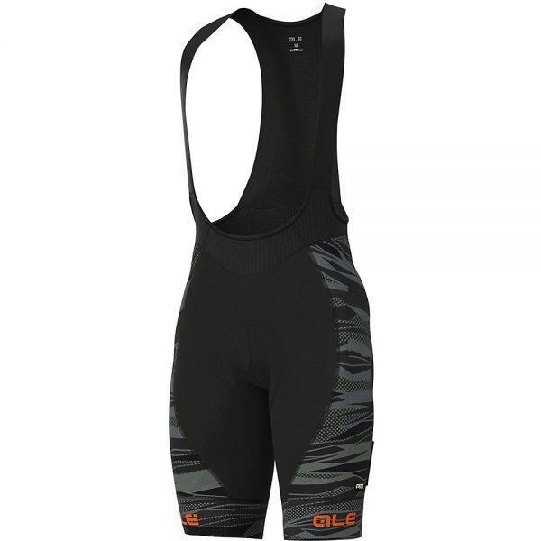 Alé Graphics PRR Rock Bib Shorts - XS - Black-Fluro Orange, Black-Fluro Orange
