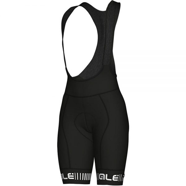 Alé Women's PRR Strada Bib Shorts - XXL - Black-White, Black-White