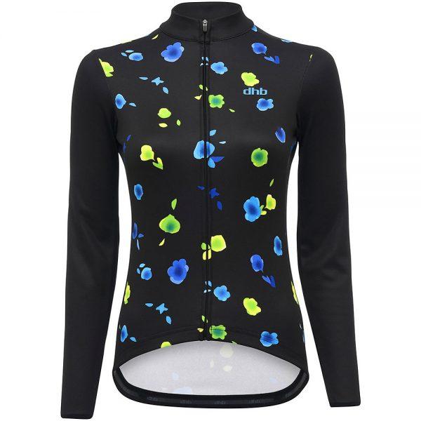 dhb Blok Women's Long Sleeve Jersey - Floral - UK 10 - Black-Multi, Black-Multi
