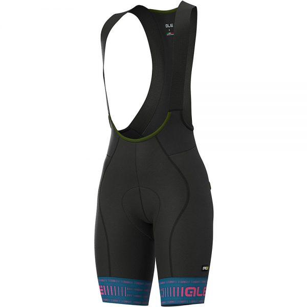 Alé Women's PRR Green Road Bib Shorts - XS - Azzure Blue- Fluro Pink, Azzure Blue- Fluro Pink