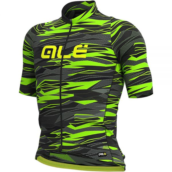 Alé Graphics PRR Rock Jersey - M - Black-Fluro Green, Black-Fluro Green