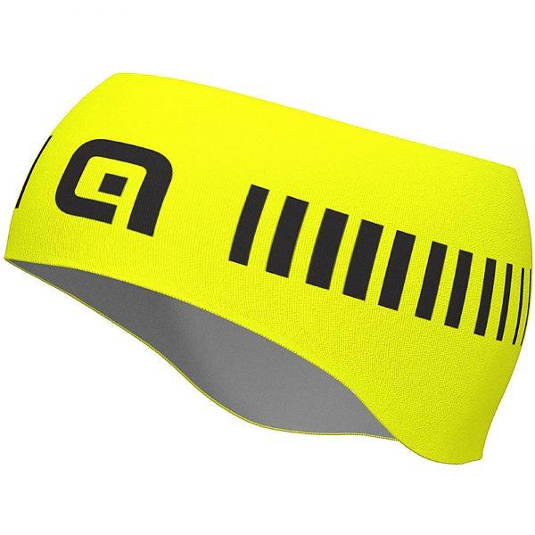 Alé Strada Headband - One Size - Fluro Yellow-Black, Fluro Yellow-Black