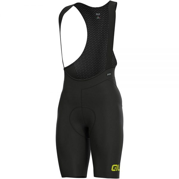 Alé REV1 Pro Race Bib Shorts - XXXL - Black-Fluro Yellow, Black-Fluro Yellow