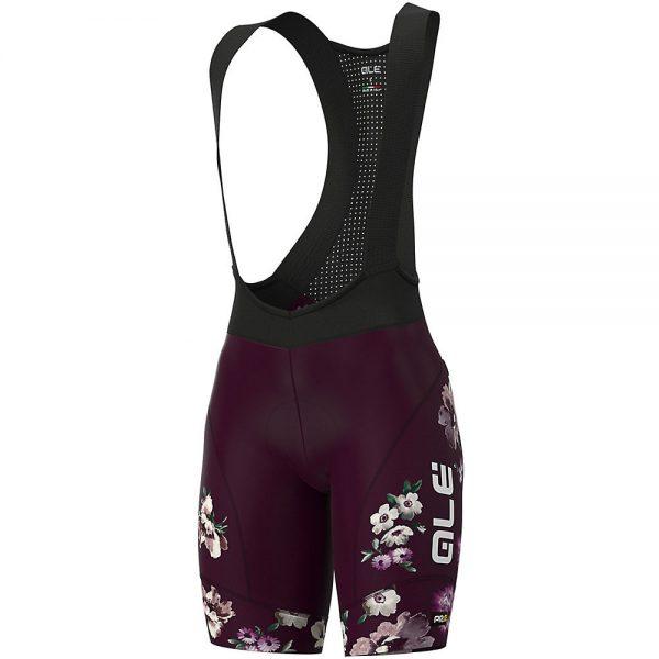 Alé Women's Graphics PRR Fiori Bib Shorts - M - Plum, Plum