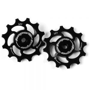 Hope 12 Tooth Jockey Wheels - Black, Black