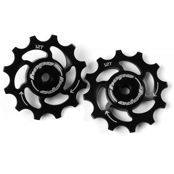 Hope 12 Tooth Jockey Wheels - Black, Black
