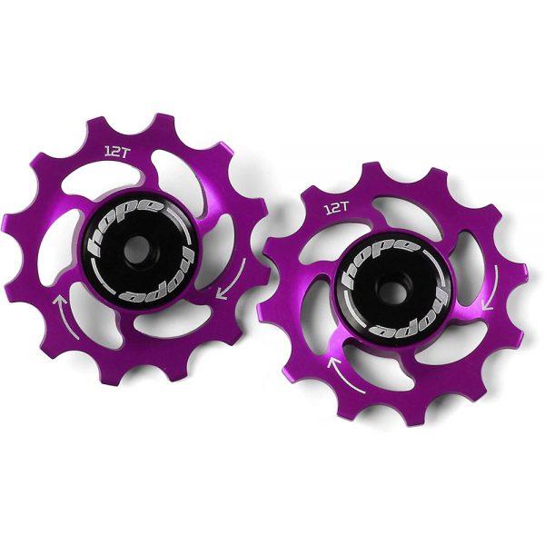 Hope 12 Tooth Jockey Wheels - Purple, Purple