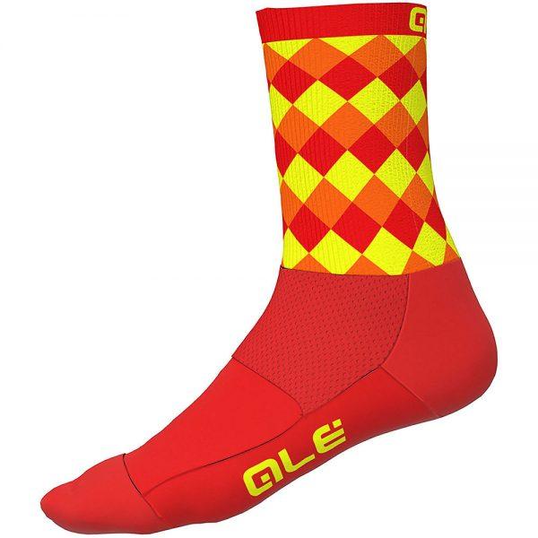 Alé Rumbles Socks - S - Fluro Orange-Fluro Yellow, Fluro Orange-Fluro Yellow
