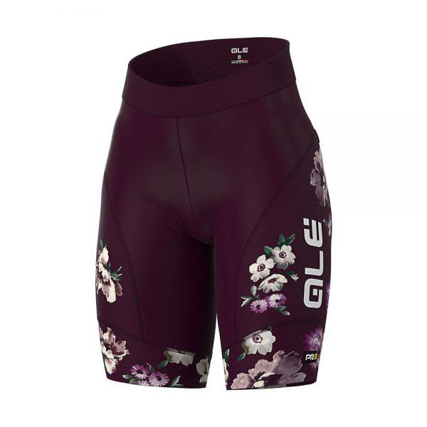 Alé Women's Graphics PRR Fiori Shorts - L - Plum, Plum