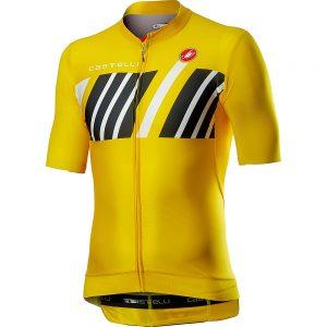 Castelli Hors Categorie Short Sleeve Jersey - XL - Yellow, Yellow