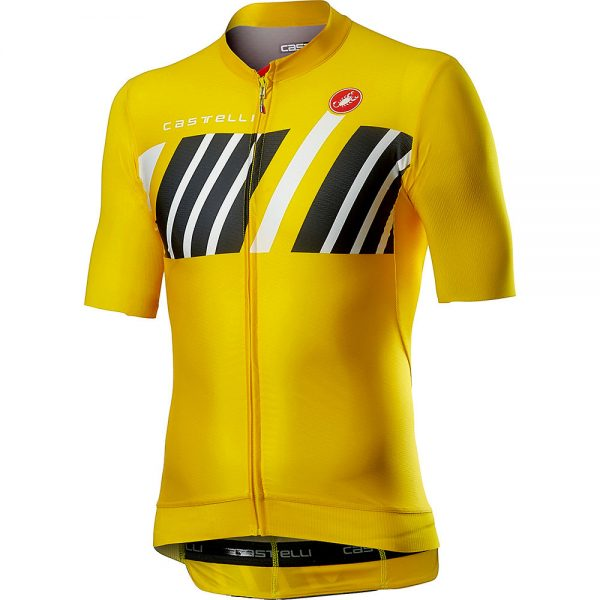 Castelli Hors Categorie Short Sleeve Jersey - XL - Yellow, Yellow