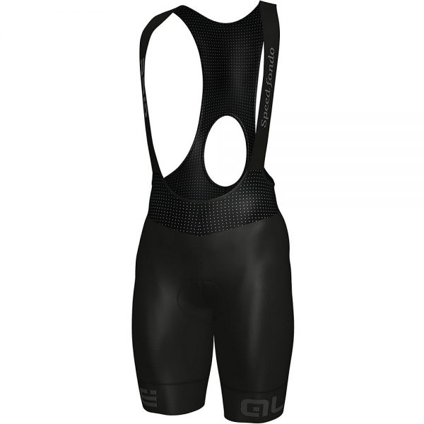 Alé Speedfondo Bib Shorts - XS - Black-Grey, Black-Grey