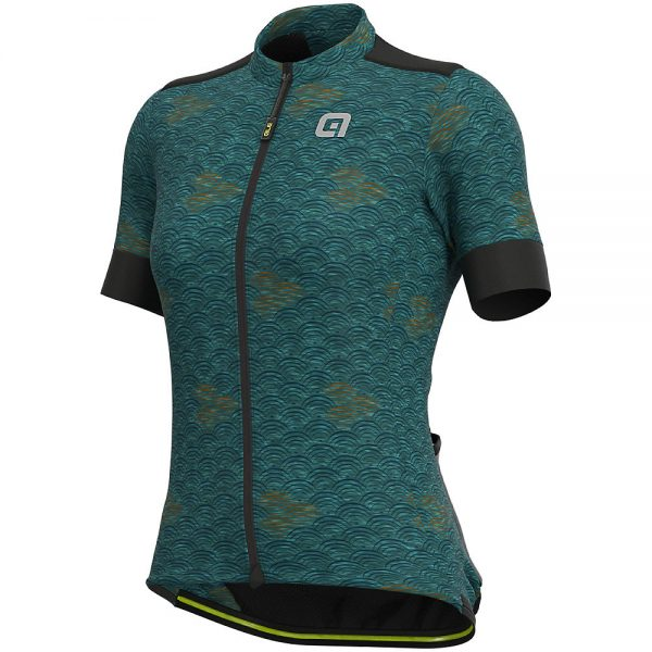 Alé Women's Joshua Jersey - S - Green Waves, Green Waves