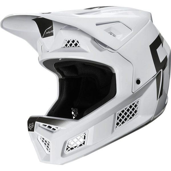 Fox Racing Rampage Pro Carbon Full Face MTB Helmet - S - White, White