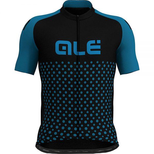 Alé Prime Short Sleeve Spot Jersey - XL - Black-Blue Spot, Black-Blue Spot