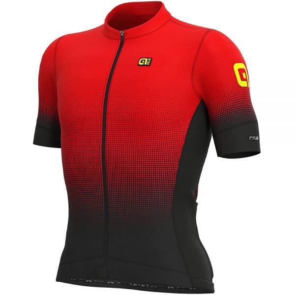 Alé PRS MC Dots Jersey - M - BLACK-RED, BLACK-RED