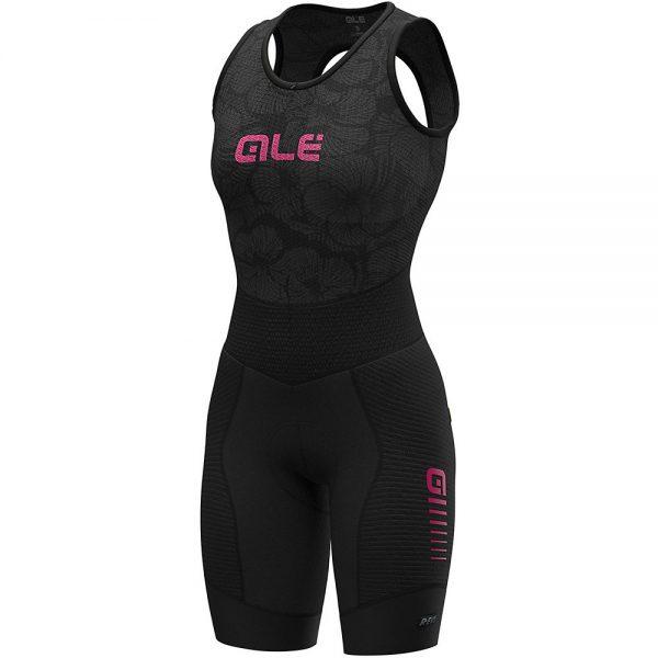 Alé Women's R-EV1 Future Integrato BibShorts - XL - Black-Fluro Pink, Black-Fluro Pink