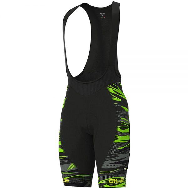 Alé Graphics PRR Rock Bib Shorts - XS - Black-Fluro Green, Black-Fluro Green