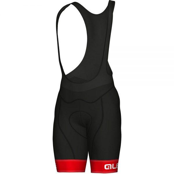 Alé Graphics PRR Sella Bib Shorts - M - BLACK-RED, BLACK-RED