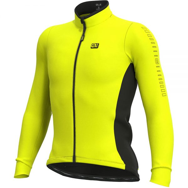 Alé Solid Fondo Long Sleeve Jersey - M - Fluro Yellow, Fluro Yellow