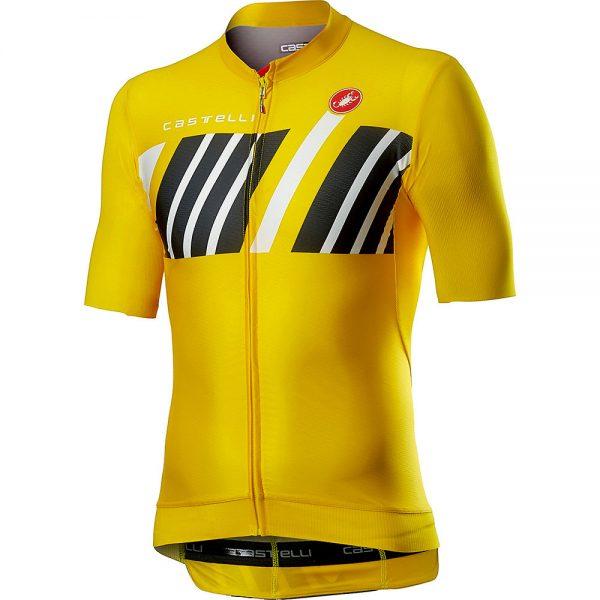 Castelli Hors Categorie Short Sleeve Jersey - M - Yellow, Yellow